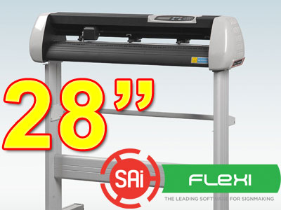 "SK720T 28"" VINYL CUTTER with PC Flexi 11 CONTOUR (free shipping)"